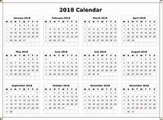 Download 2018 Calendar Free Picture PNG Free Transparent