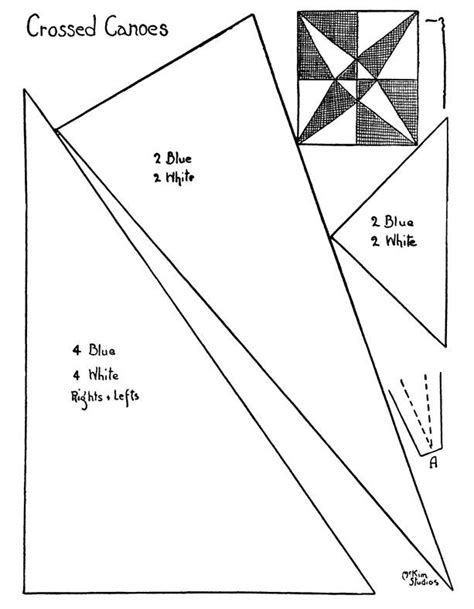 Crossed Canoes Quilt Block Pattern by Quilt Pattern Crossed Canoes Quilts Tutorials And