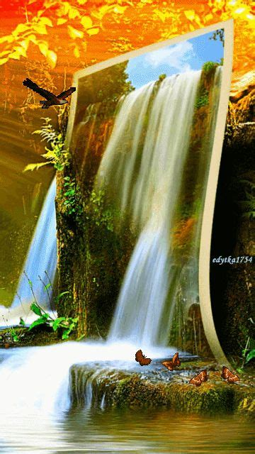 Animated Wallpaper For 4 - animated waterfall wallpapers for mobile gallery
