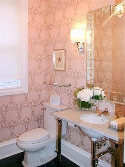 Pink Powder Hgtv Bathrooms Retro Tiled Decorating