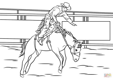 Bull Riding Coloring Pages To Print Coloring For Kids 2018