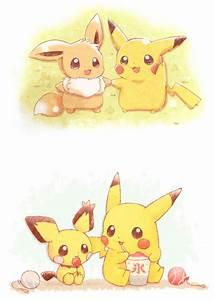 Pikachu Eevee and Pichu | ANIME ART! X3 | Pinterest ...