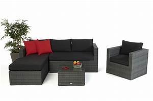 Rattan Gartenmöbel Lounge : rattan lounge brooklyn das gartenm bel set f r terrasse und garten ~ Frokenaadalensverden.com Haus und Dekorationen