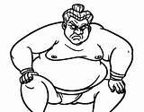 Sumo Wrestler Coloring Drawing Furious Japan Colorear Coloringcrew Getdrawings sketch template