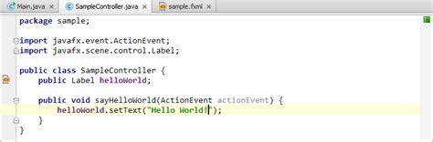 developing  javafx  world application coding