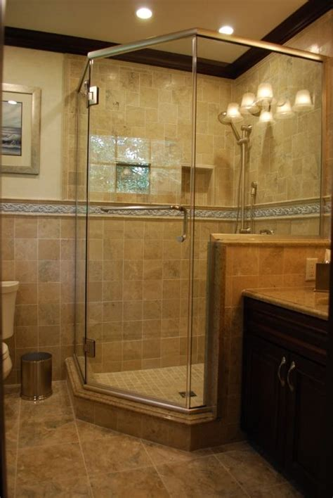 Walk In Shower Materials by This Large Corner Custom Ceramic Tile Shower With All