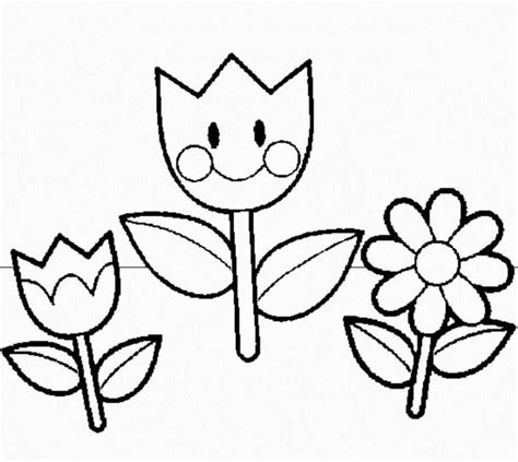 flower templates  preschool coloring home