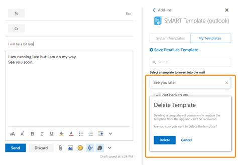 outlook save email as template ixora solution smart template email writing add in for