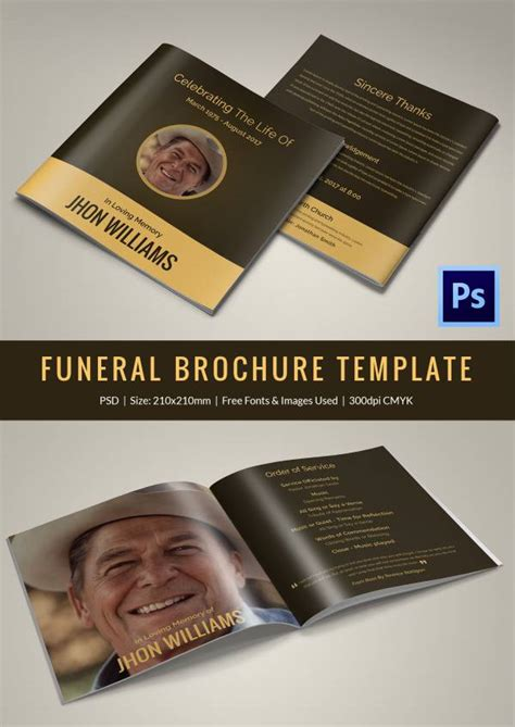 Free Funeral Brochure Templates by 30 Funeral Program Brochure Templates Free Word Psd