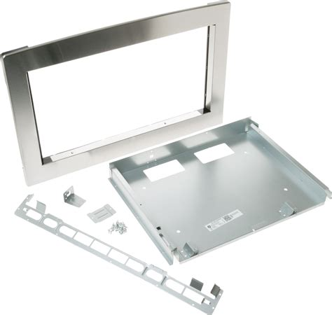 jxsh ge built  microwave  trim kit stainless steel  note  returns policy