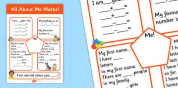 all about me maths display poster worksheet all about me all