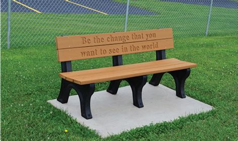 Memorial Classic Engraved Benches  Kirbybuilt Products