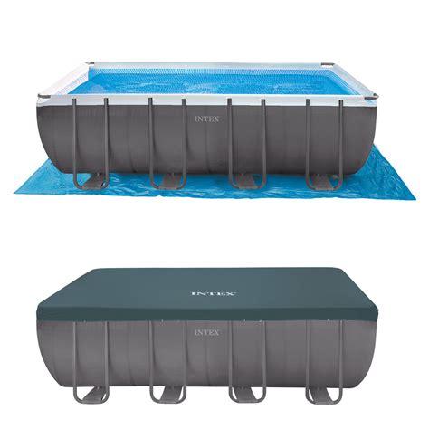 rechteck pool komplettset intex 549x274x132 swimming pool set rechteck stahlwand frame schwimmbad 28352gs ebay
