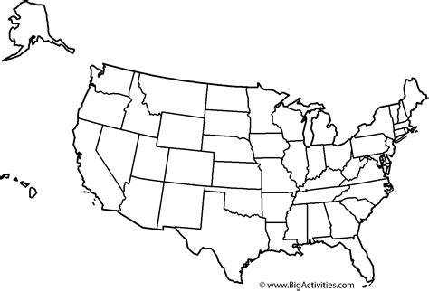 map   united states  theme  states coloring