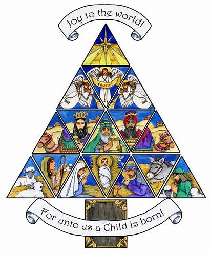 Christmas Christian Clip Tree Nativity Clipart Cliparts
