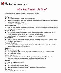 Marketing brief template free word excel documents for Marketing research brief template
