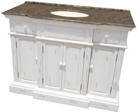 large single bathroom vanity  distressed white