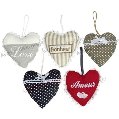 coeur decoration tissu palzon