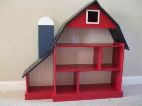 barn bookshelf blue silo   woodworking projects