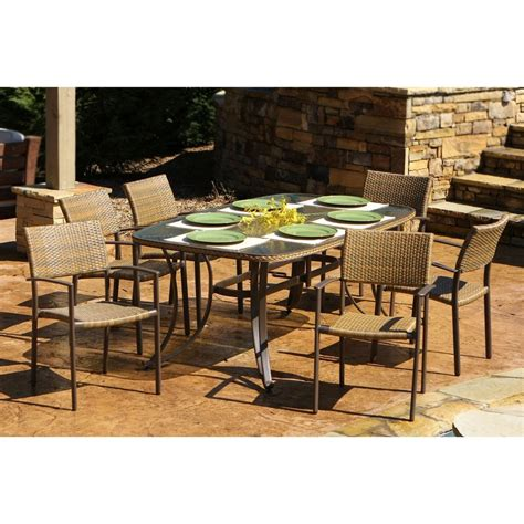 shop tortuga outdoor maracay 7 piece antique gray glass