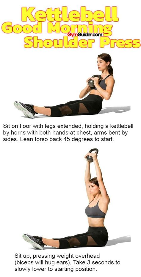 kettlebell shoulder press morning exercises arms toned gymguider