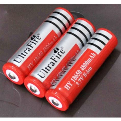 ultrafire baterai 18650 3 7v 6000mah dengan button top