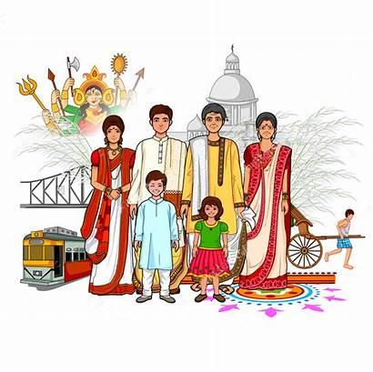 Culture India Bengal West Bengali Clipart Vector
