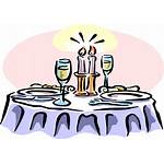 Clipart Jaar Getrouwd Dinner Dining Fine Cartoon