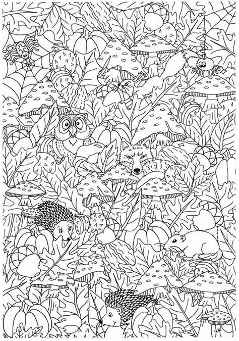 Dieren In De Herfst Kleurplaat by Herfst Kleurplaten Kleurplaten Herfst En Kleuren