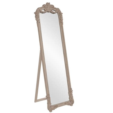 floor mirror easel monticello distressed taupe french renaissance standing floor mirror with easel uvhe56100