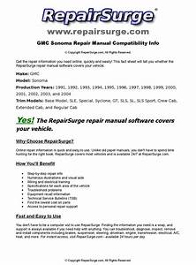 Gmc Sonoma Online Repair Manual For 1991  1992  1993  1994