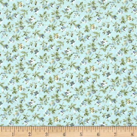subtle skies small floral blue discount designer fabric fabric com