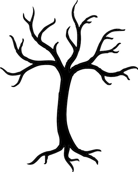 Tree Template Black And White by Black Tree Clip Art At Clker Vector Clip Art Online