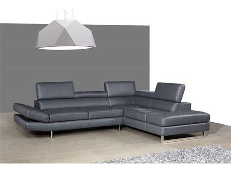 canapé promo conforama canapé cuir angle droit leman coloris gris prix promo