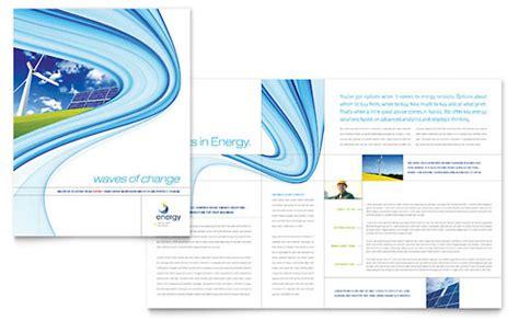 energy environment brochures flyers word publisher