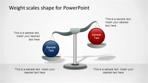 weight scales powerpoint shapes opposing concepts slidemodel