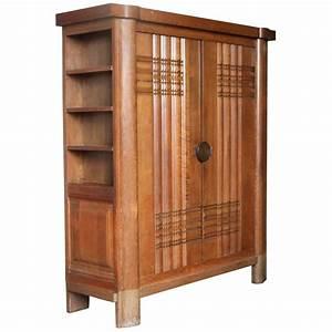Armoire Art Deco : french art deco oak armoire by dudouyt for sale at 1stdibs ~ Melissatoandfro.com Idées de Décoration