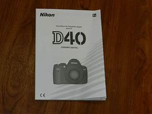 Genuine Oem Nikon D40 Instruction User U0026 39 S Guide Manual Book