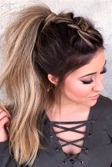easy ponytail hairstyles  school ideas ponytail