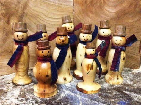 snowmen wood turning wood lathe wooden snowmen