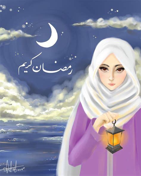 lihat  koleksi mewarnai gambar sketsa anime chibi hijab