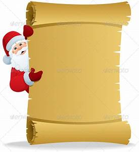 santa scroll 2 by malchev graphicriver With scroll letter from santa