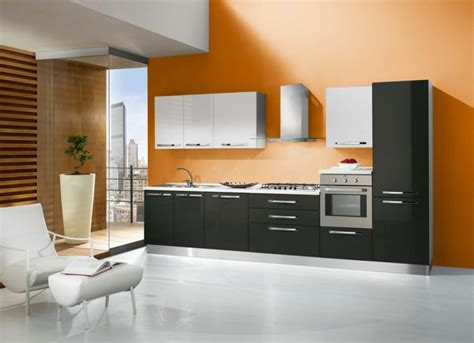 couleur mur cuisine cuisine orange 50 idées d 39 aménagement stimulantes