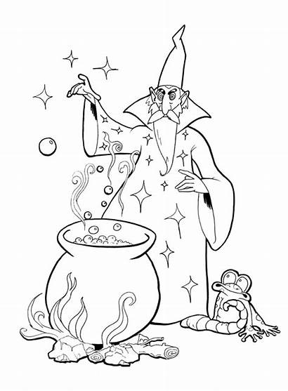 Merlin Coloring Pages Magician Emerald Wizard Bbc