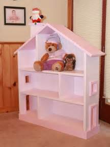pink and white dollhouse bookcase wooden wall shelves in pink doll house design woodworking