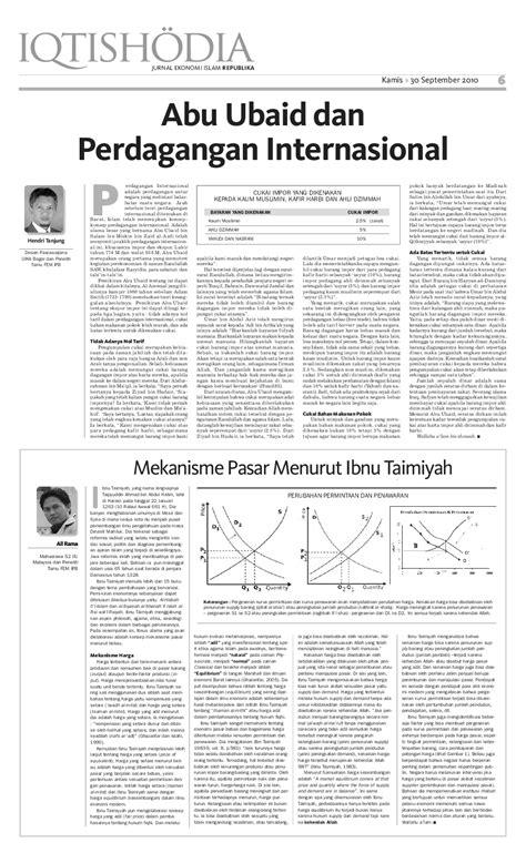 Mekanisme Pasar Menurut Ibnu Taimiyah | Ali Rama