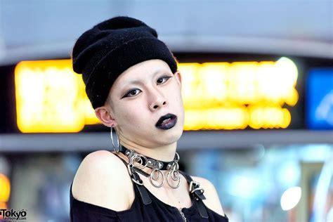 dark tokyo street style  black lipstick fetis demonia