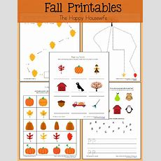 Fall Themed Worksheets Free Printables  The Happy Housewife™  Home Schooling