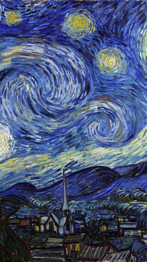 van gogh iphone wallpaper aj42 vincent van gogh starry night classic painting art Van G