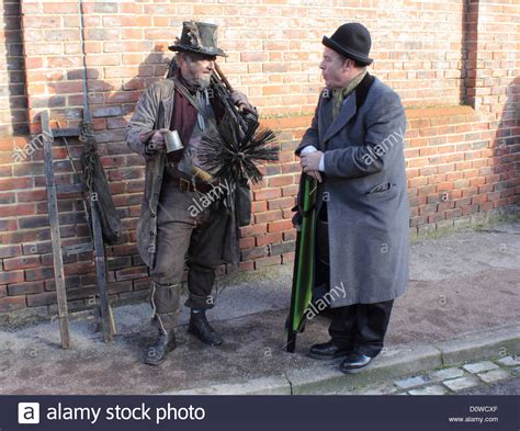 Traditional Victorian Chimney Sweep For Christmas Stock